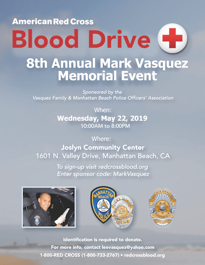 8th Annual Mark Vasquez Memorial Blood Drive